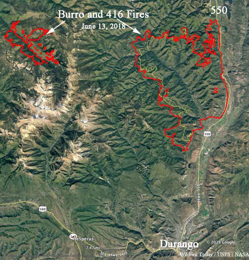 map 416 fire colorado wildfire