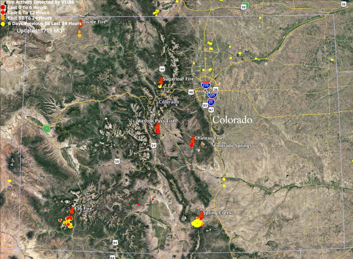 Multiple wildfires burning in Colorado