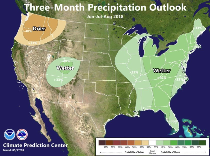 precipitation outlook june july august