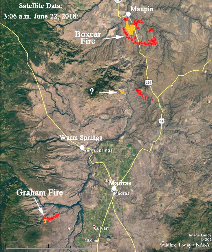 map fires northern Oregon