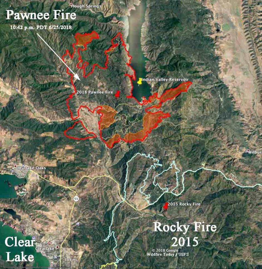Map perimeterPawnee Fire