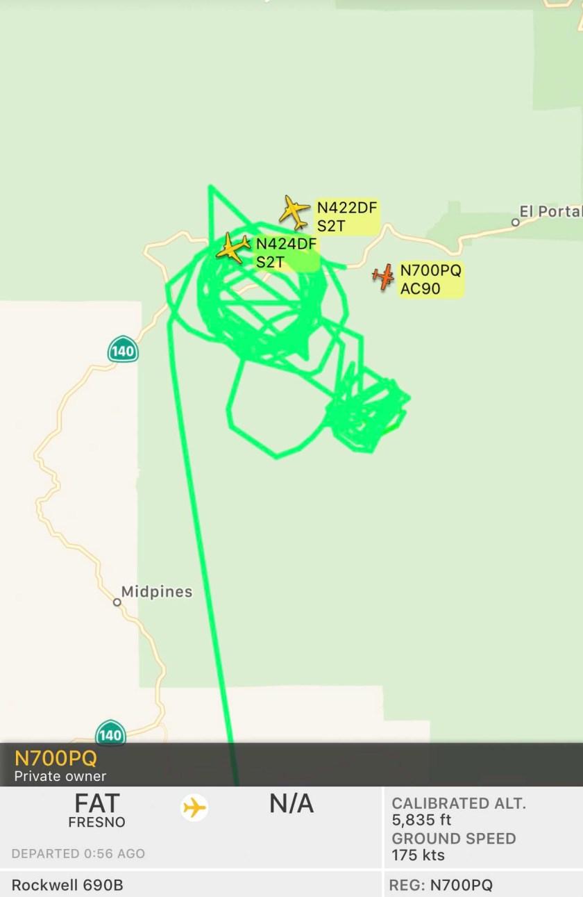 aircraft ferguson fire
