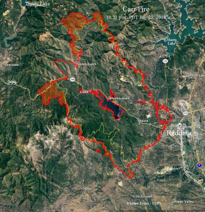 map Carr Fire Redding