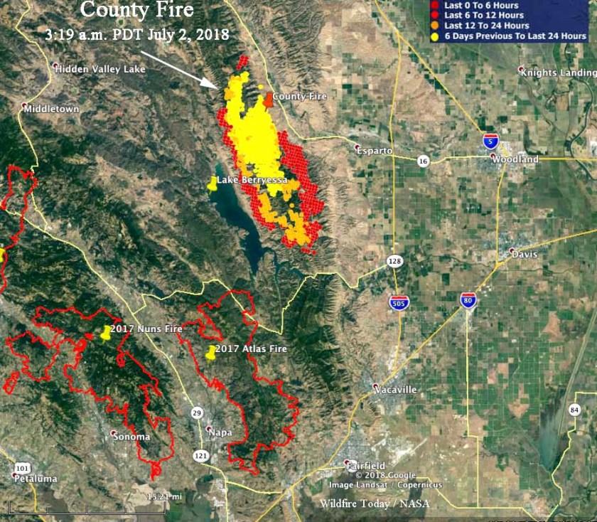 County Fire map Atlas fire