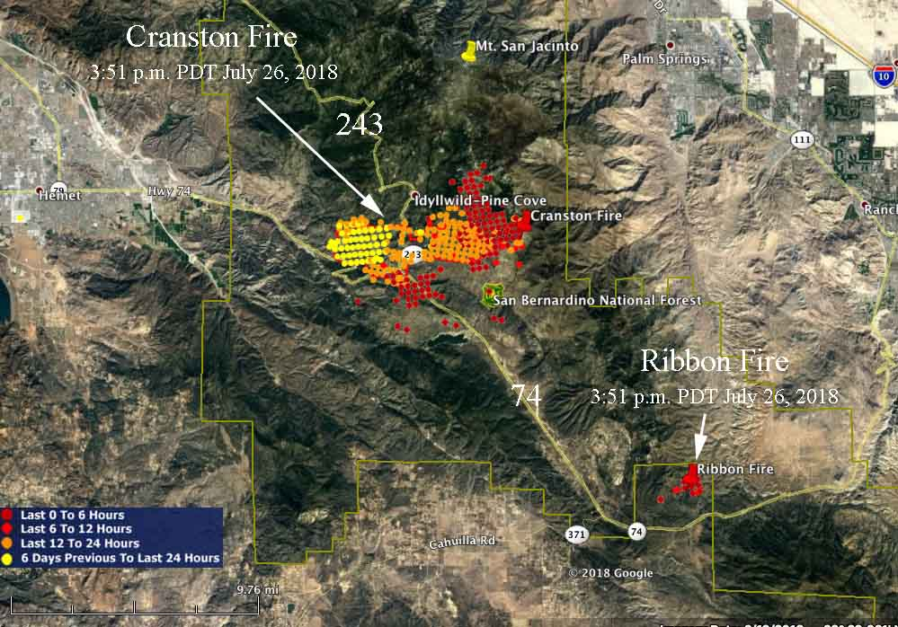Fire Map California July 2018.New Fire Starts 10 Miles Away From The Cranston Fire Wildfire Today