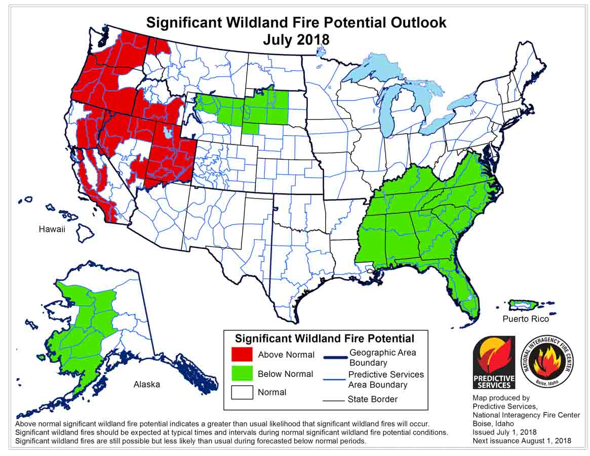 Wildfire Potential Increases In California And The Northwest