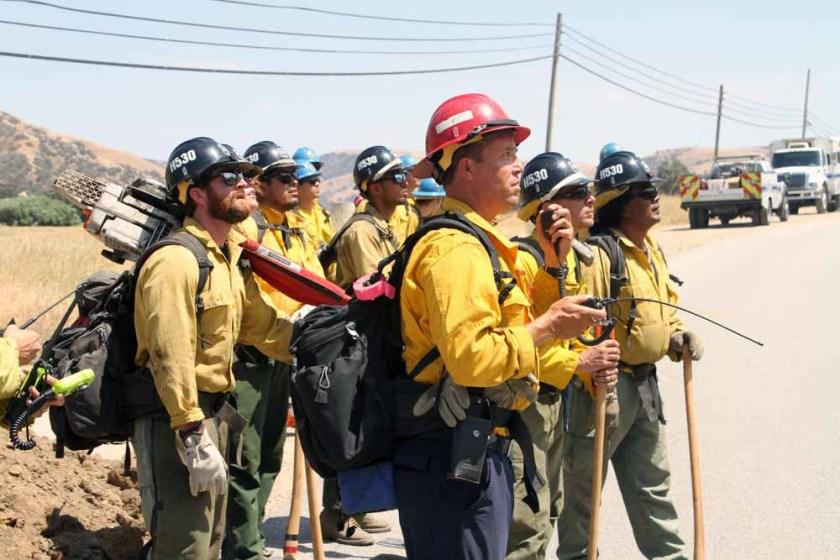 wildfire Lebec, California