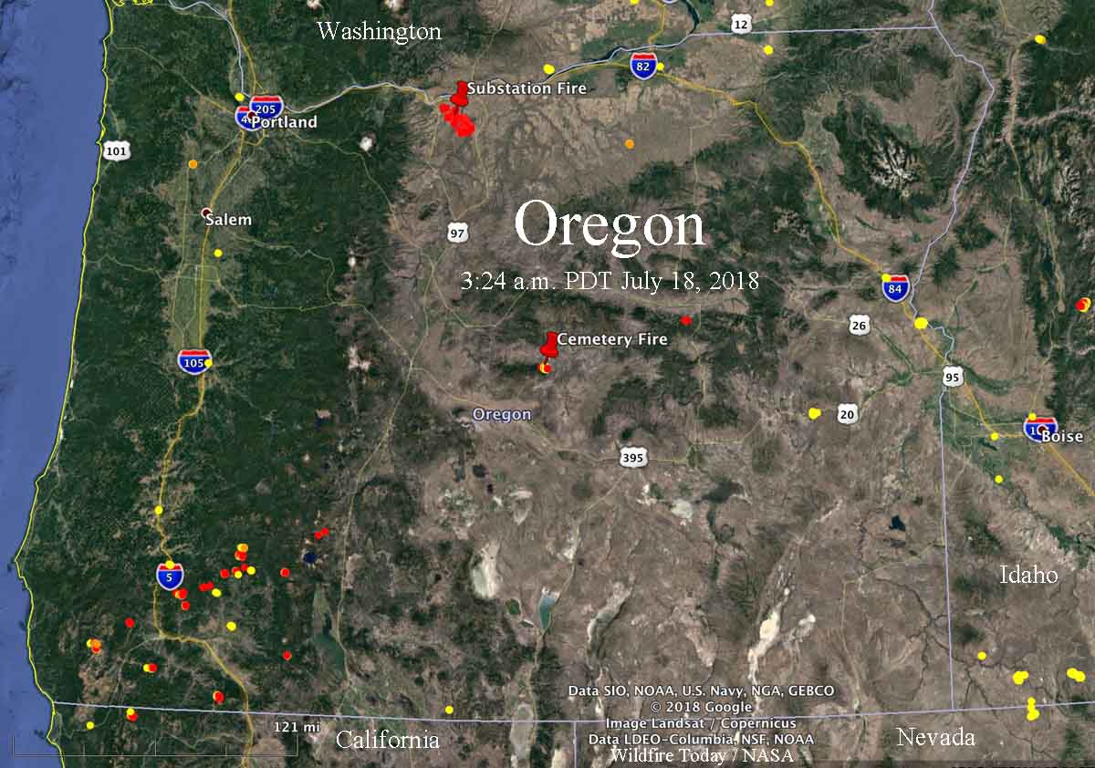 Lightning leaves behind many fires in Oregon   Wildfire Today
