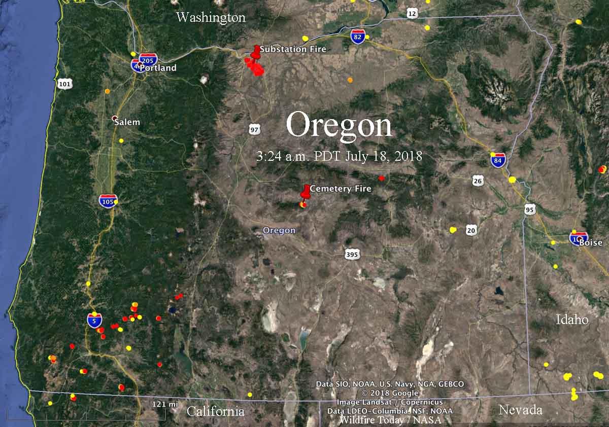 Oregon Fire Map 2018 Kingjaap