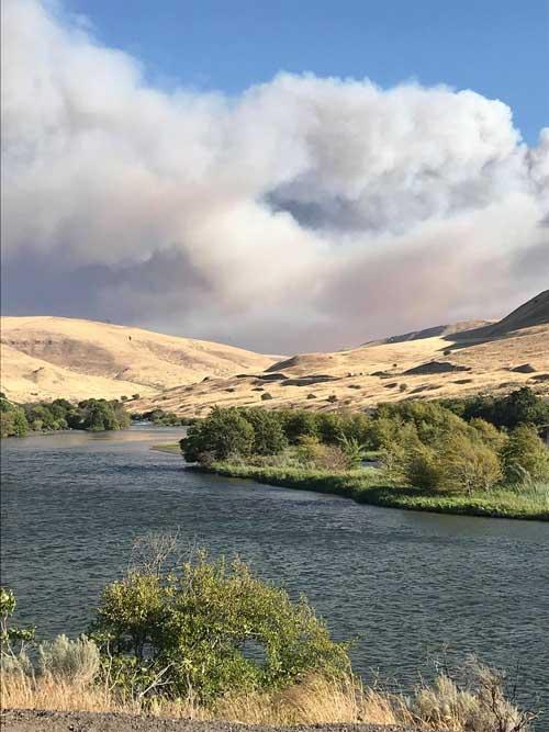 Substation fire Deschutes River