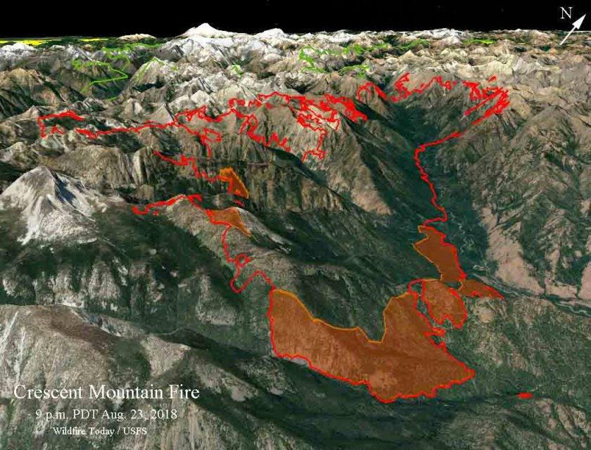 3-d map Crescent Mountain Fire