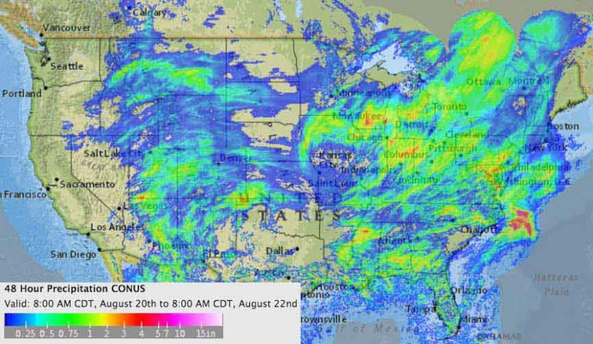 weather 48-hour precipitation map