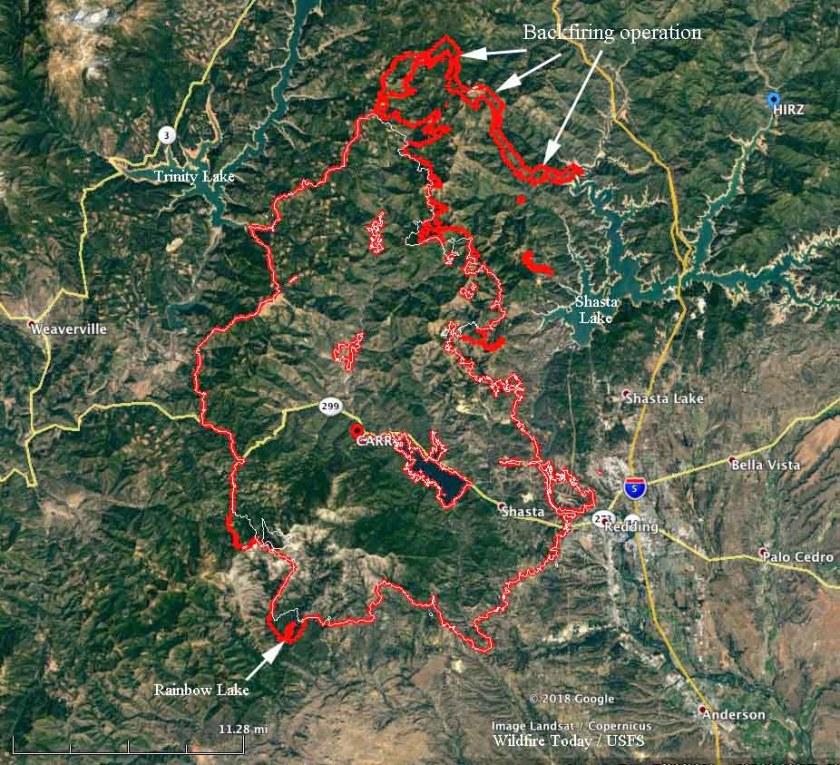map Carr Fire california
