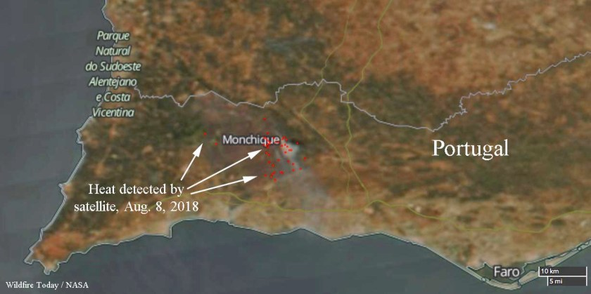 Portugal Monchique fire wildfire