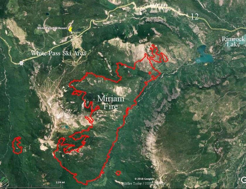 White Pass Ski area Miriam fire