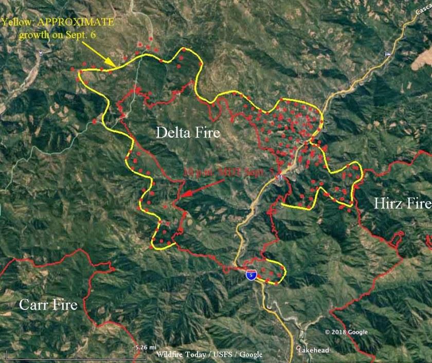 Delta Fire Map