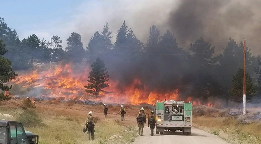 Britania Mountain Fire Wyoming