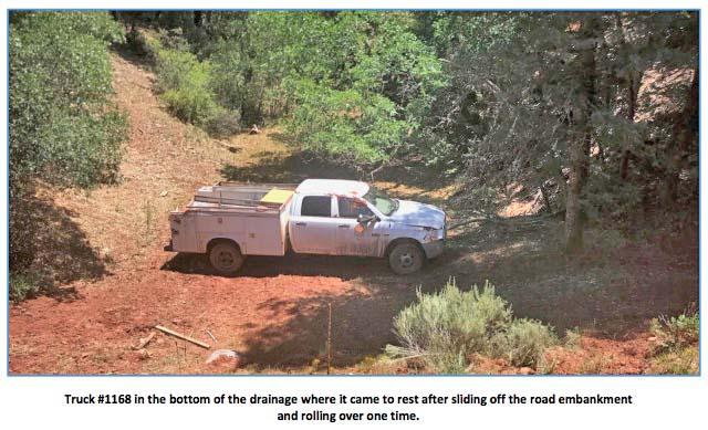 Truck rollover, Aragon Fire in New Mexico
