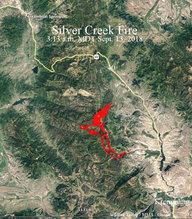 Map Silver Creek Fire