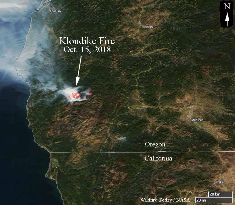 Klondike Fire in southwest Oregon