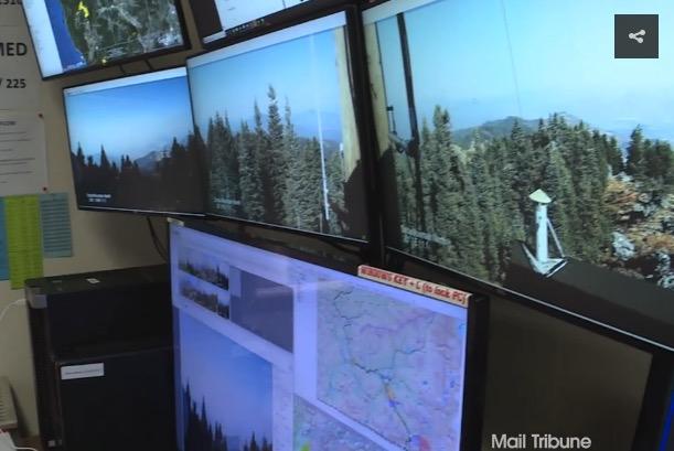 camera detect wildfire Oregon
