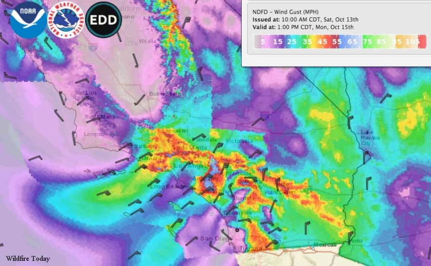 wind forecast southern california october 15