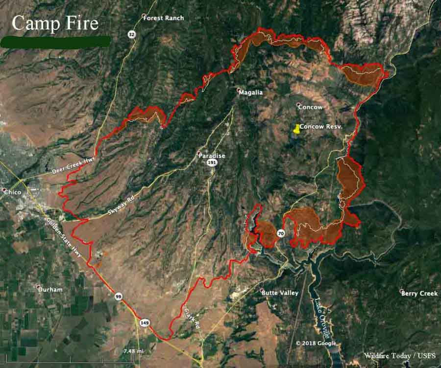 Fatalities In Camp Fire Near Paradise Calif Increase To 23
