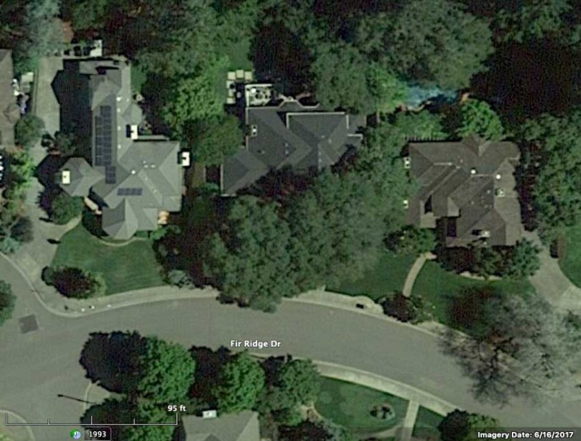 Satellite photo Fir Ridge Road