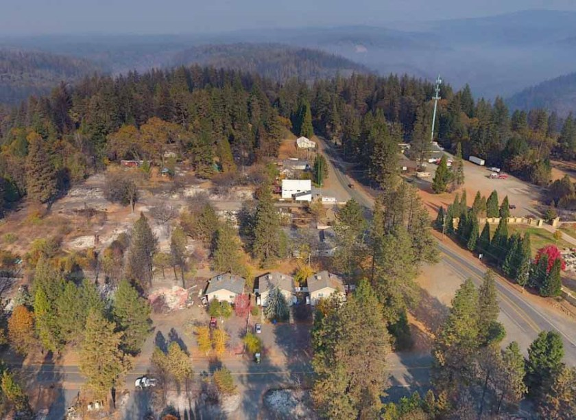 Camp Fire drone photo