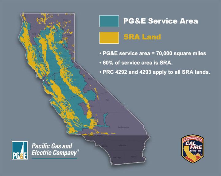 PG&E service territory