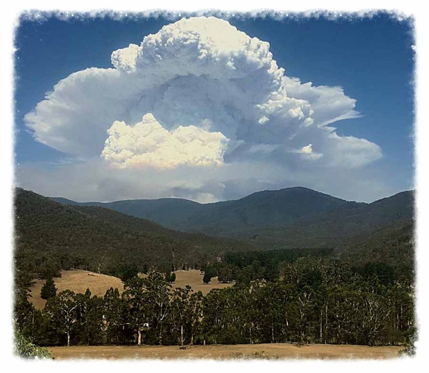 Pyrocumulus Australia wildfire bushfire