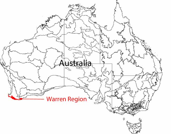 Map Warren Region Western Australia