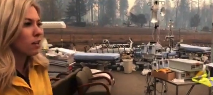 Feather River Hospital Camp fIre burned