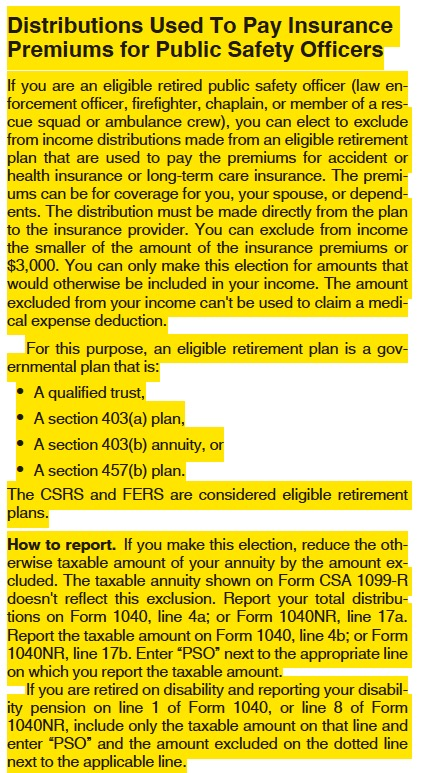 IRS Public Safety Officer tax insurance