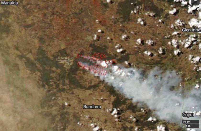 Tingha Fire map bushfire new south wales
