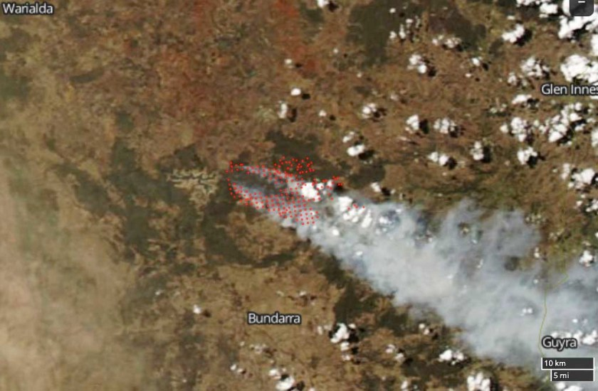 Tingha Fire map bushfire new south wales