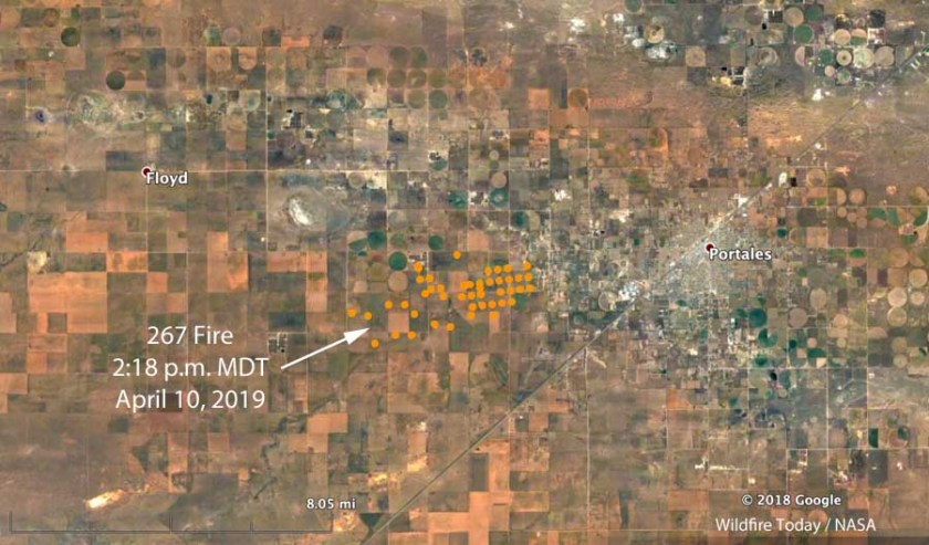map 267 Fire Portales New Mexico