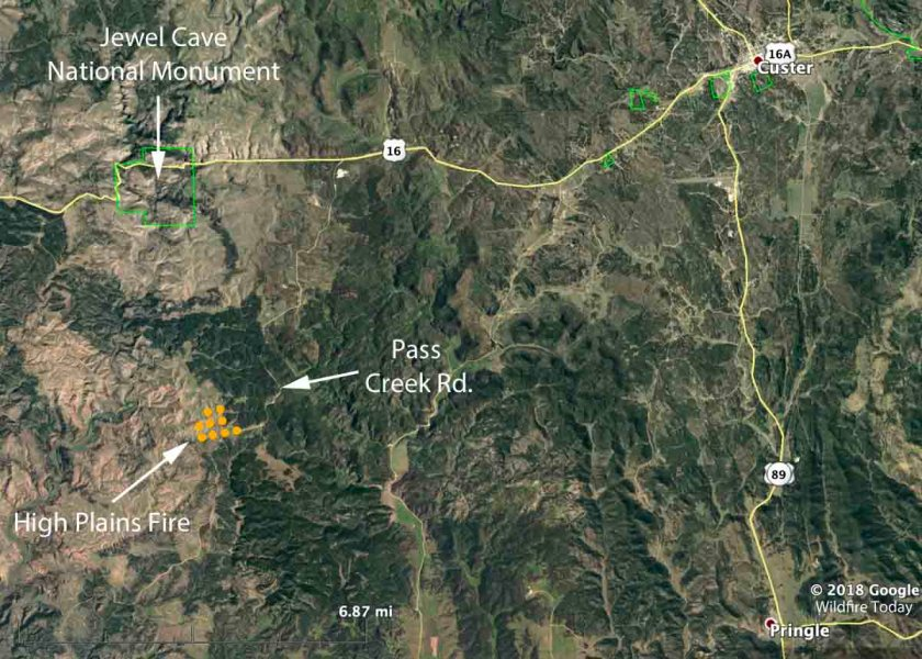 map high plains fire black hills