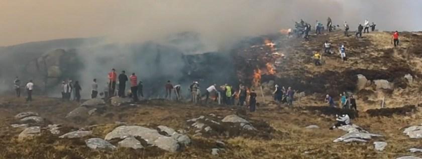 wildfire in northwest Ireland