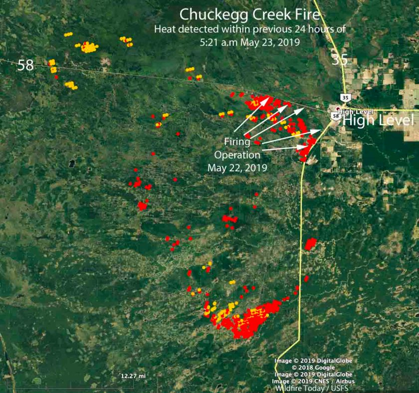 map High Level Alberta Chuckegg Fire