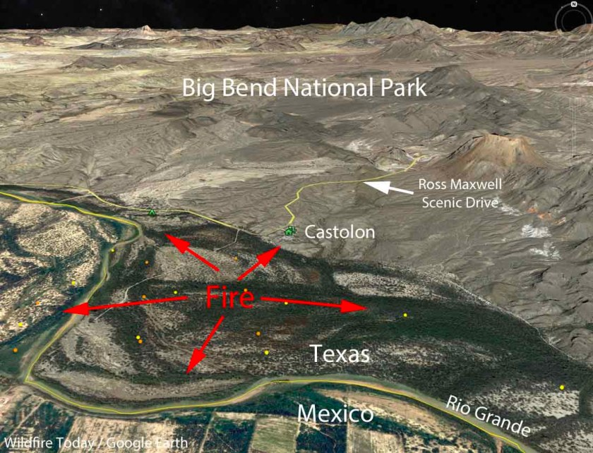 map Castolon Fire Big Bend National Park