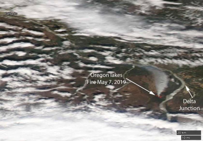 Satellite photo Oregon Lakes Fire