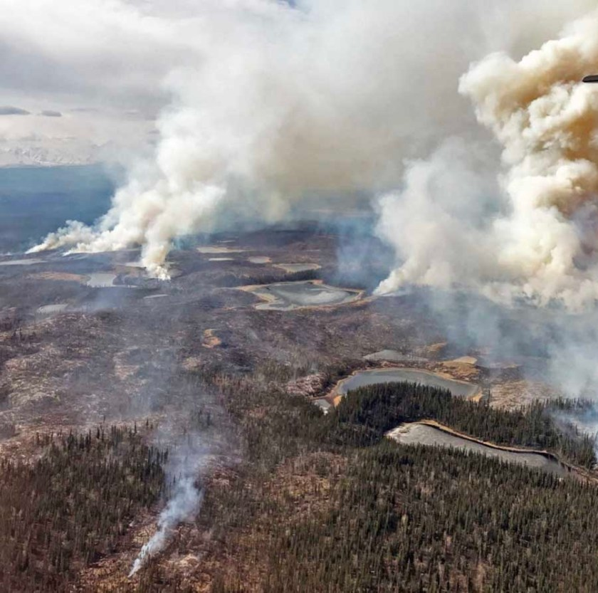 Oregon Lakes Fire May 2