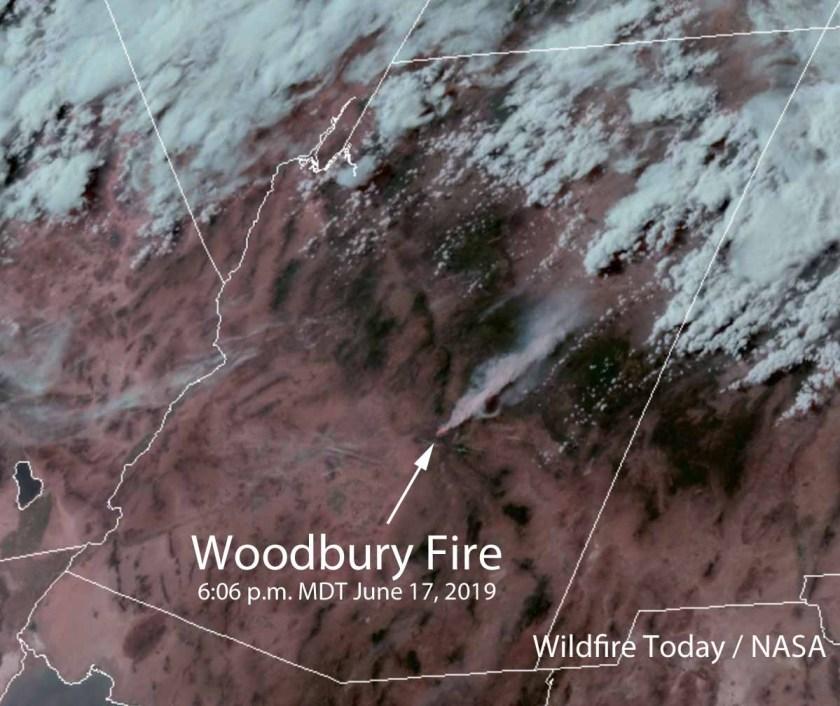 Satellite photo Woodbury Fire