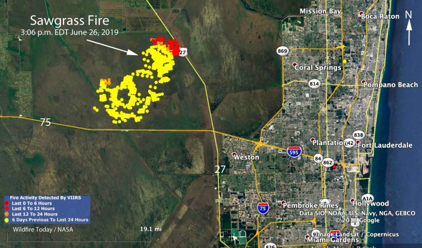 map Sawgrass Fire Florida