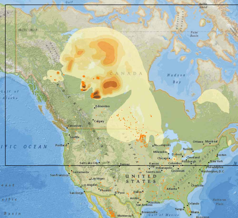 Map Of Canada Government Of Canada.Canadian Wildfire Smoke Decreasing In United States Wildfire Today