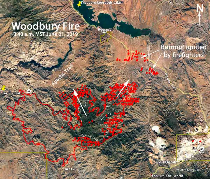 map Woodbury Fire Arizona Phoenix