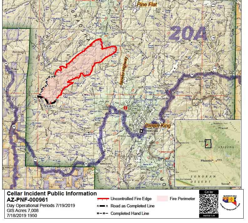 Map Of East Arizona.14 Aircraft And 367 Firefighters Are Battling The Cellar