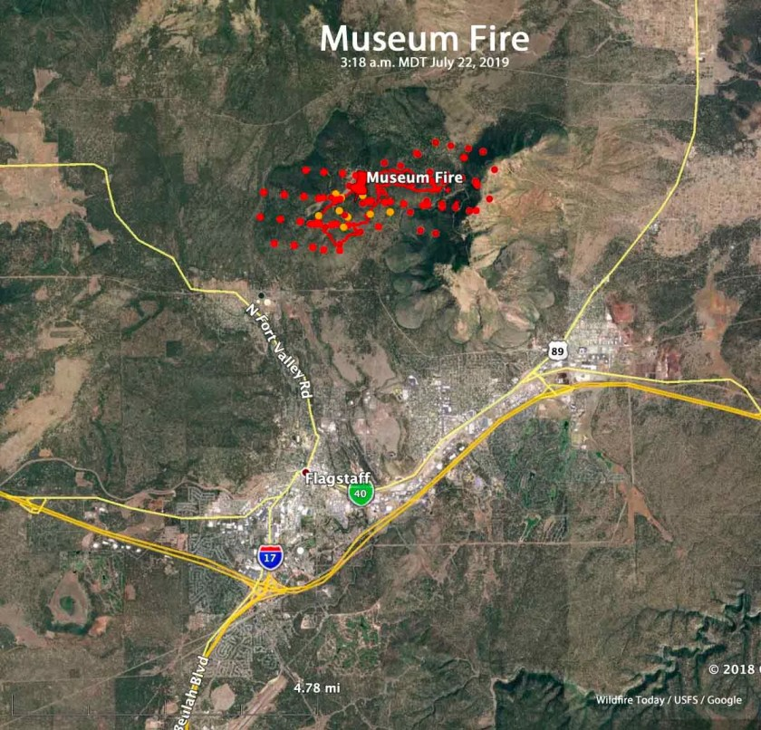 map Museum Fire Flagstaff Arizona