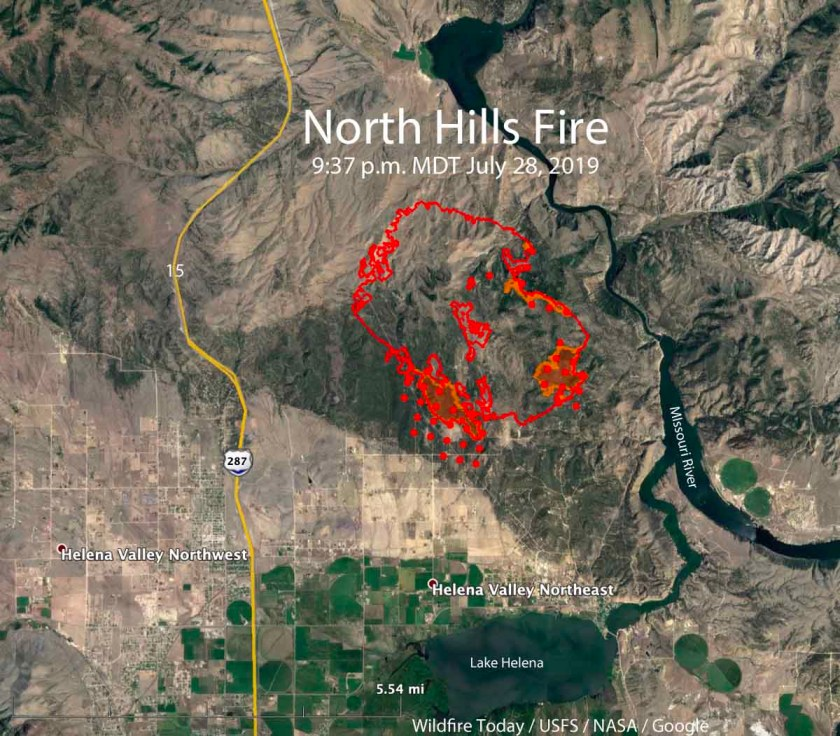 map North Hills Fire Helena MT